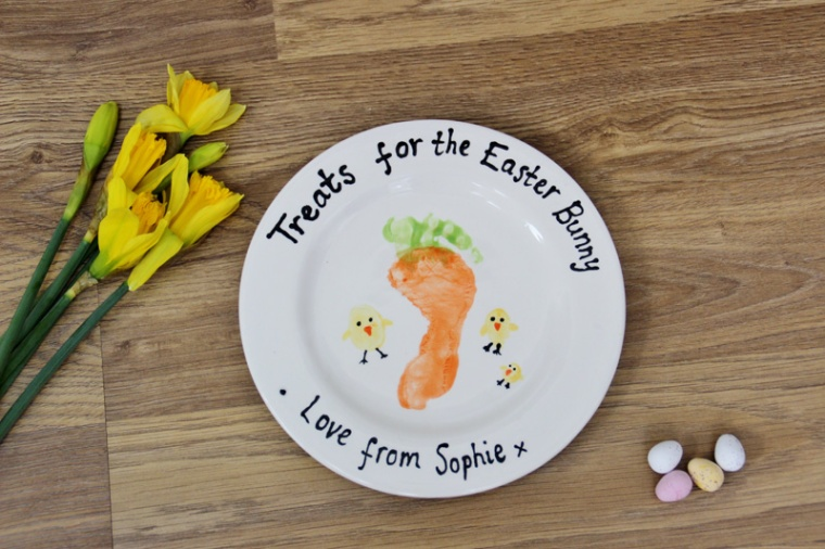 Pottery-Painting-Easter-Bunny-Plate-Ceramic-Glaze-Sharpies