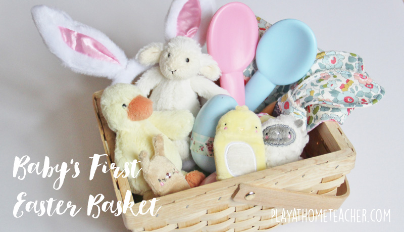 Babys first easter basket play at home teacher negle