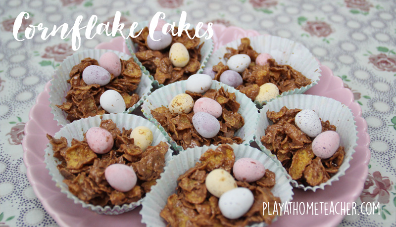 How To Make Cornflake Cakes With Golden Syrup And Jam
