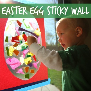 easter egg sticky wall