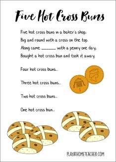 Five-Hot-Cross-Buns-Border