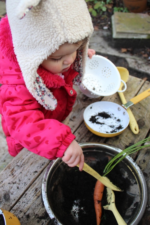 Mud kitchen Carrot Soup