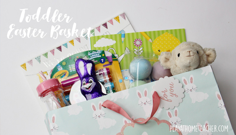 Easter basket ideas for a toddler play at home teacher easter basket ideas for a toddler negle Images