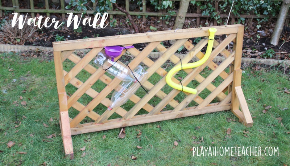 Diy water wall play at home teacher for Diy water wall