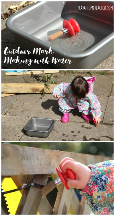 Outdoor mark making with water