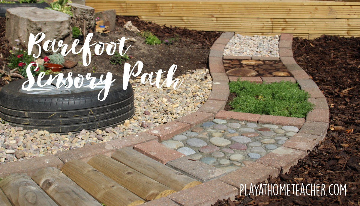 Diy barefoot sensory path play at home teacher for Sensory garden designs