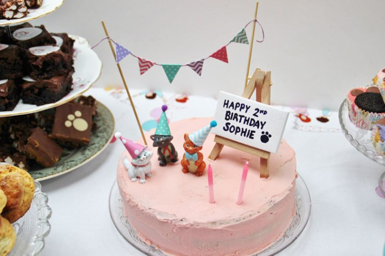 Cat Party Aristocat Birthday Cake