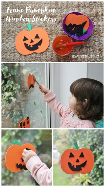 foam-pumpkin-window-stickers-pinterest